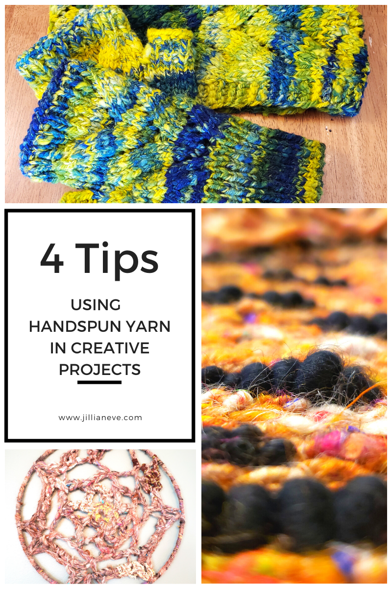 4 Tips for Using Hand Spun Yarn in a Project