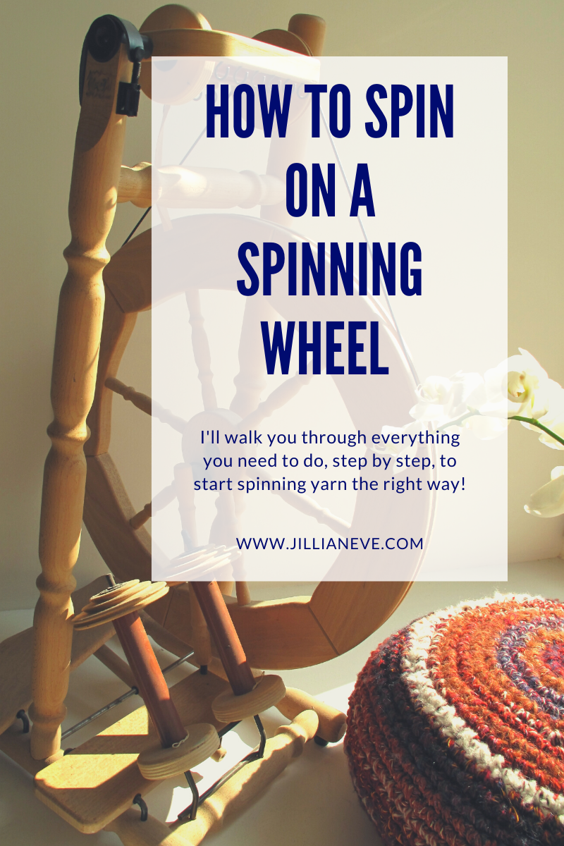 How To Spin On A Spinning Wheel for Absolute Beginners