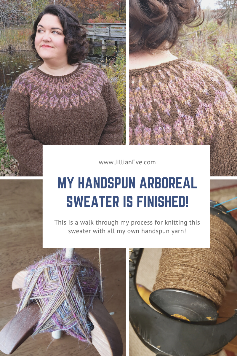 My Handspun Arboreal Sweater is Finished!