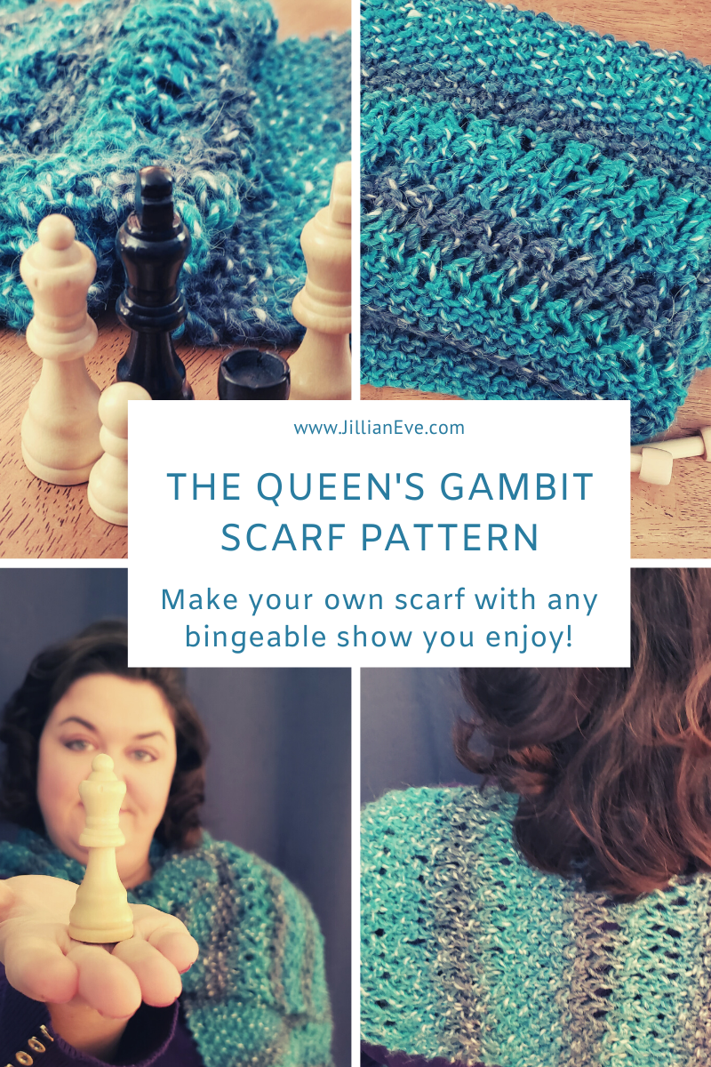 The Queen's Gambit Scarf Knitting Pattern